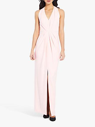 Adrianna Papell Pleated V-Neck Dress