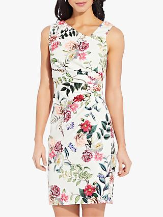 Adrianna Papell Parisian Sheath Floral Dress, Ivory/Multi