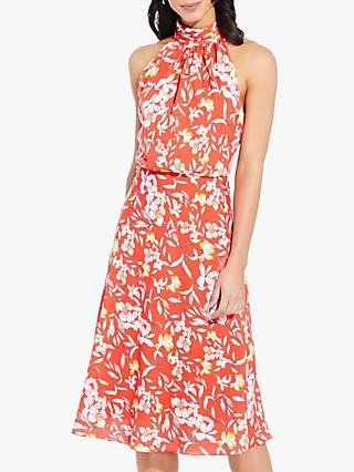 Adrianna Papell Tea Time Floral Dress, Coral