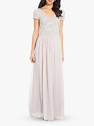 Adrianna Papell Beaded Soft Dress, Marble
