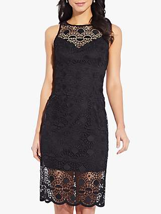 Adrianna Papell Sunrise Lace Sheath Mini Dress