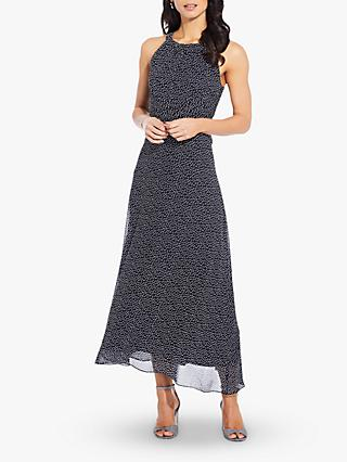 Adrianna Papell Darling Midi Dress, Navy/Ivory