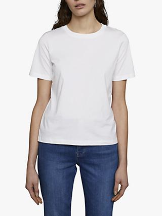 Jigsaw Cotton Boxy Tee, White
