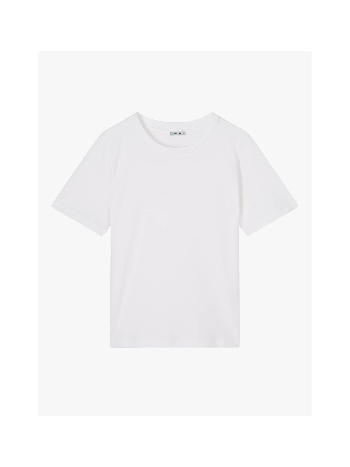 Buy Jigsaw Cotton Boxy Tee, White, XS Online at johnlewis.com