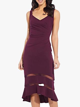 Adrianna Papell Knit Trumpet Dress, Pinot Noir