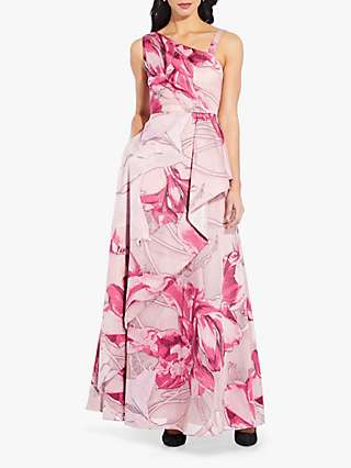 Adrianna Papell Organza Floral Dress, Pink