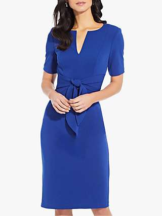 Adrianna Papell Knit Crepe Knee Length Dress
