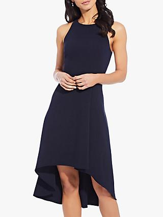 Adrianna Papell Pleat Detail Sleeveless Dress, Blue Moon