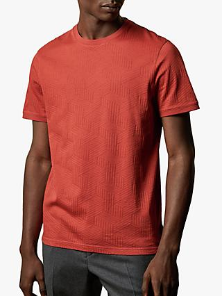 Ted Baker Twopee Textured Cotton T-Shirt