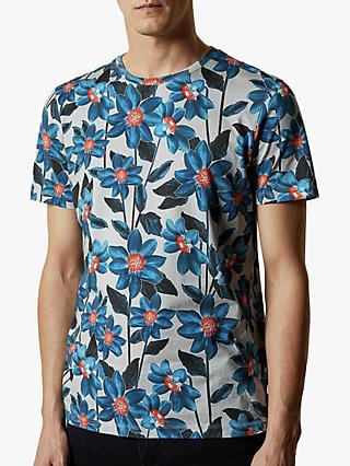 Ted Baker Feris Floral T-Shirt, Mid Grey