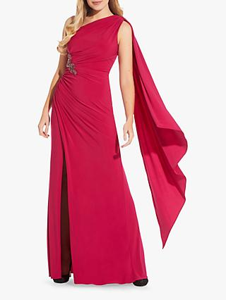 Adrianna Papell One Shoulder Gown, Bright Rose