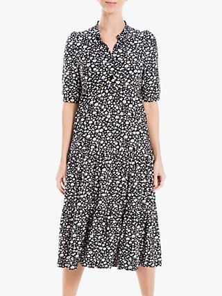 Max Studio Floral Print Jersey Maxi Dress, Black