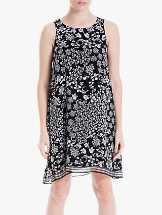 Max Studio Sleeveless Printed Dress, Black
