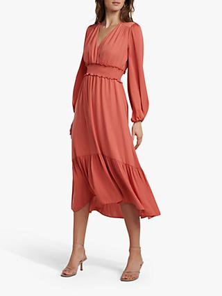 Forever New Eloise Tiered Midi Dress, Summer Melon