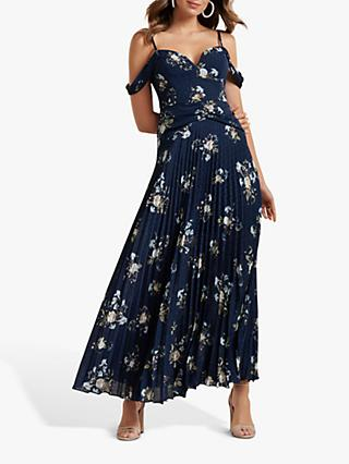 Forever New Sahara Pleated Dress, Navy