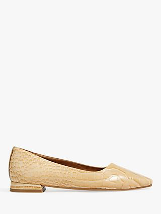 Anais Leather Flat Shoes
