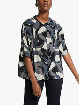 Kin Painterly Print Oversized Shirt, Black/Multi