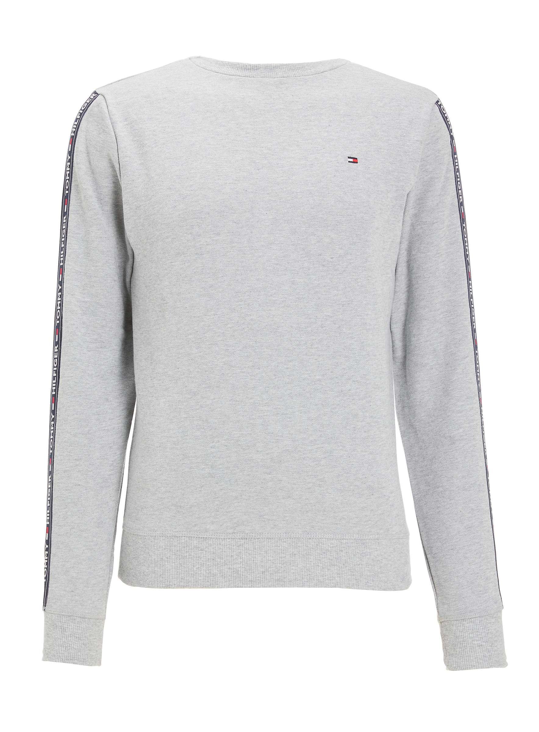 Tommy Hilfiger Taped Logo Sweatshirt Grey Sizes S-XL