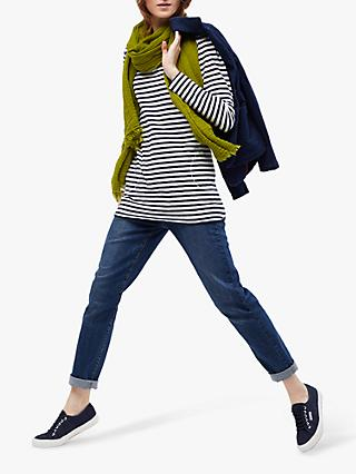 White Stuff Carly Striped Jersey Tunic, Navy