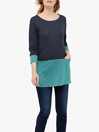 White Stuff Colour Pop Jersey Tunic, Navy