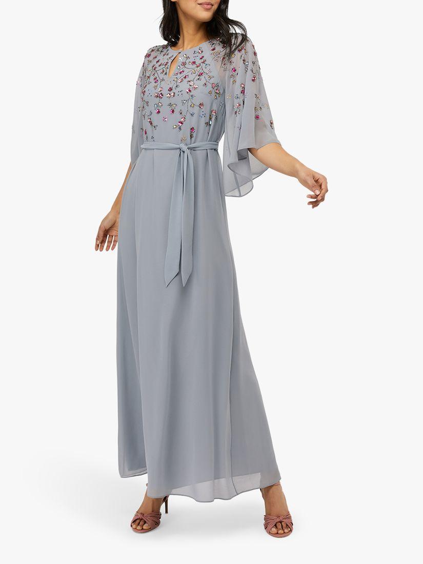Monsoon Monsoon Kalina Embellished Kaftan Dress, Blue
