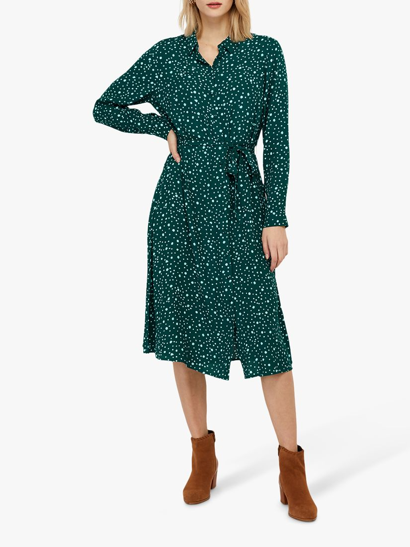 Monsoon Monsoon Sally Ecovero Dress, Green