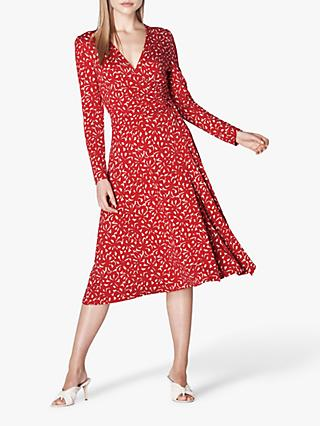 L.K.Bennett Khloe Wrap Dress, Red/Multi