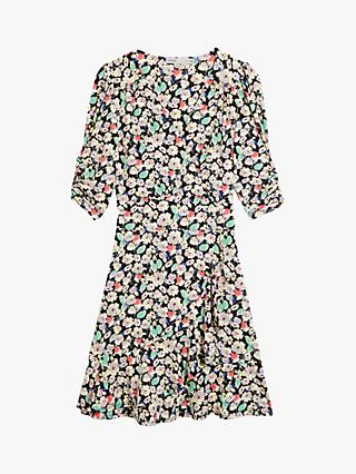 Oasis Floral Ruffle Mini Tea Dress, Multi