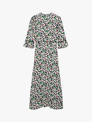 Oasis Rainbow Stripe Midi Dress Multi-colour Summer Dress UK L