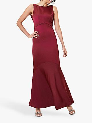 Oasis High Neck Maxi Dress, Burgundy