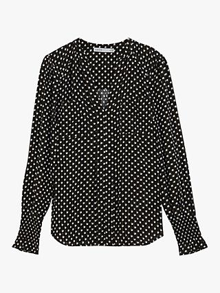 Oasis Sparkle Spot Shirt, Black/Multi