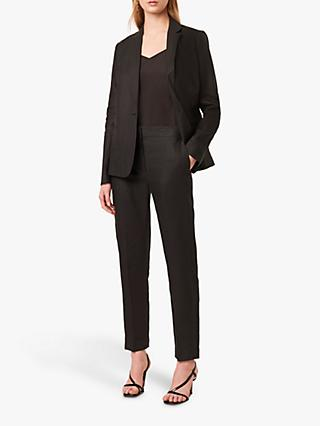 French Connection Linen Tailored Suit Jacket, Black