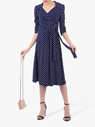Jolie Moi Printed Jersey Shirt Midi Dress