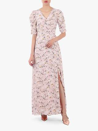 Jolie Moi Puffy Sleeved Maxi Dress