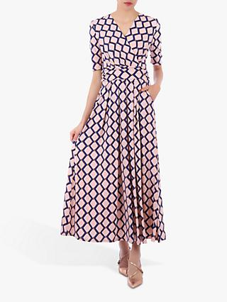 Jolie Moi Sleeved Jersey Maxi Dress, Pink