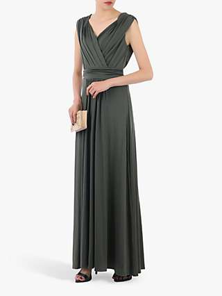 Jolie Moi Bridesmaid Draped Maxi Dress