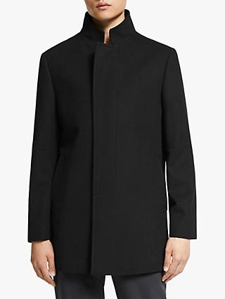Kin Wool Blend Car Coat, Black