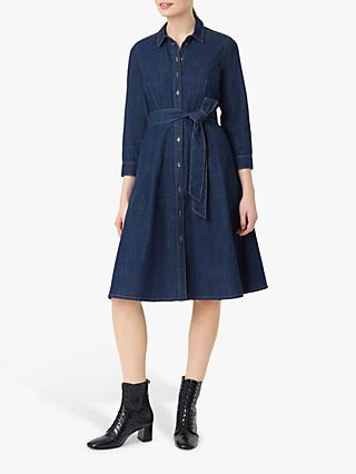 Hobbs Elle Denim Shirt Dress, Blue