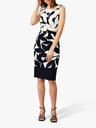 Phase Eight Barbara Contrast Dress, Navy/Ivory