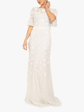 Beaded Dreams Embellised Sequence Maxi Dress, White