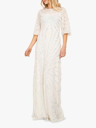 Beaded Dreams Sequin Embellised Maxi Dress, White