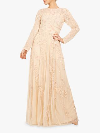 Beaded Dreams Embellished Maxi Dress, Cream