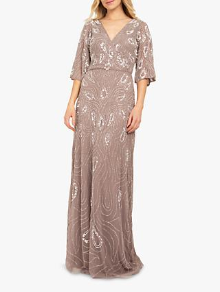 Beaded Dreams Embellished Maxi Dress, Dark Lilac