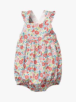 Mini Boden Baby Floral Frilly Bubble Romper, Pink