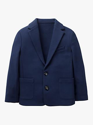 Mini Boden Boys' Jersey Blazer, College Navy