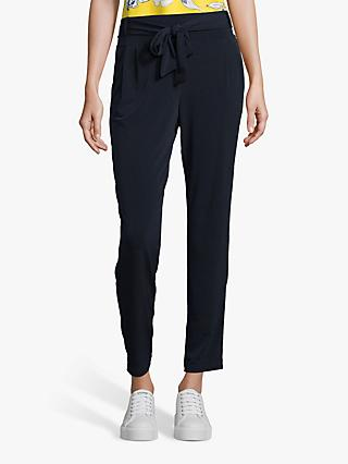 Betty Barclay Tie Waist Jersey Trousers, Dark Sky