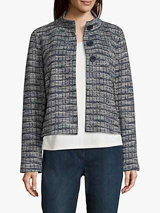Betty Barclay Geometric Print Jacket, Dark Blue/Cream