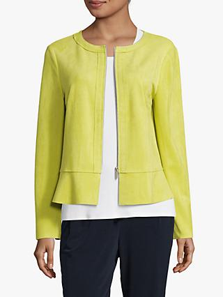 Betty Barclay Faux Suede Zip Jacket, Wild Lime