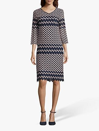 Betty Barclay Crochet Dress, Dark Blue/Rosé