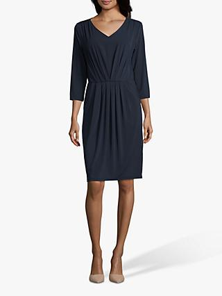 Betty Barclay V-Neck Jersey Dress, Dark Sky